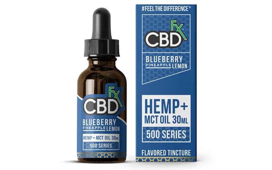 Blueberry pineapple and lemon CBD oil by cbdfx