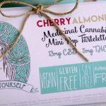 Cherry almond cannabis tart by treat yourself