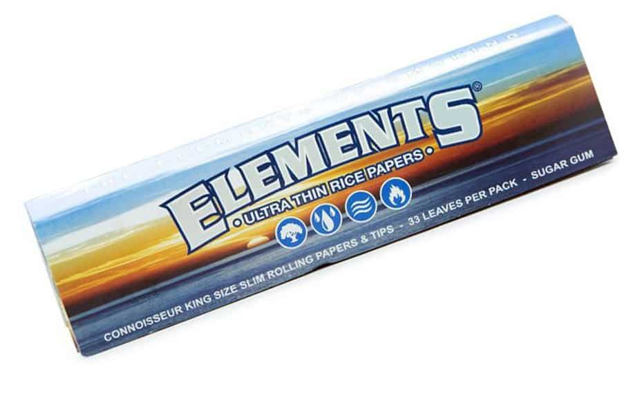 Rice paper based rolling paper by Elements