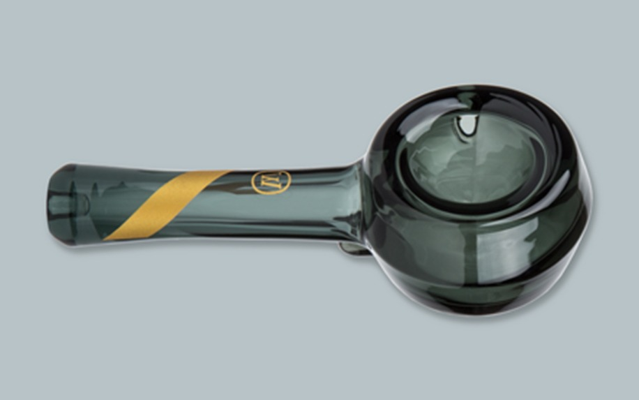 smoked glass spoon pipe marley natural